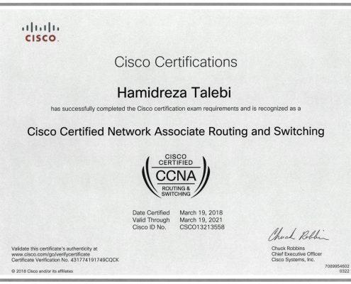 CCNA Certificate Hamidreza Talebi