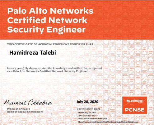 PCNSE Palo Alto- Hamidreza Talebi